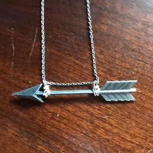"""Jewelry - SILVER ARROW NECKLACE  9"""" DROP"""
